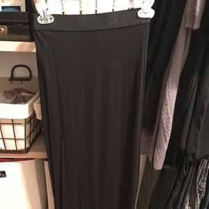 High waisted full length skirt